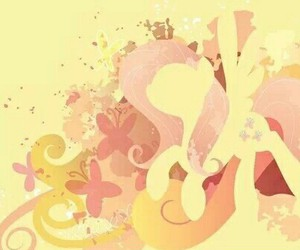 butterflies, MLP, and fluttershy image