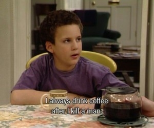 boy meets world, coffee, and funny image