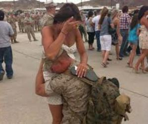 love, couple, and army image
