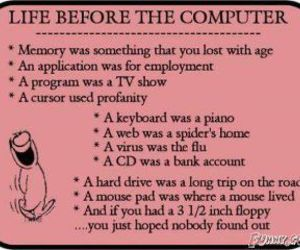 age, computers, and funny image