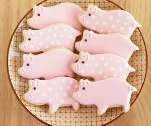 pink, cute, and Cookies image