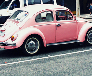 pink, car, and cool image