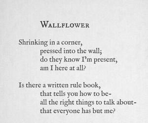 quote and wallflower image