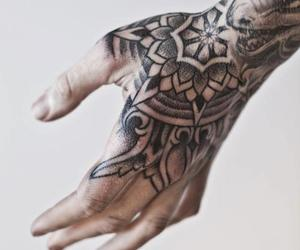 tattoo, hand, and art image