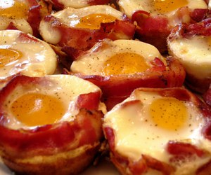 bacon, food, and eggs image