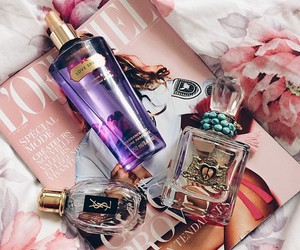 perfume, pink, and beauty image