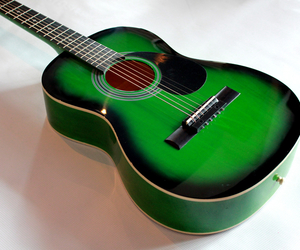 green, guitar, and music image