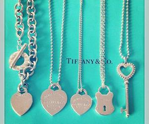 necklace, tiffany, and heart image