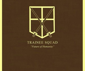 shingeki no kyojin, attack on titan, and trainee squad image