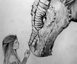 dragon, girl, and garota image