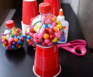 candy, gum machine, and diy image