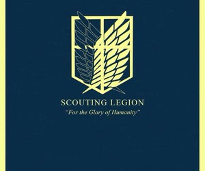 attack on titan, shingeki no kyojin, and scouting legion image