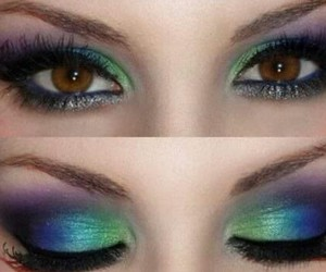 eyes, it, and makeup image