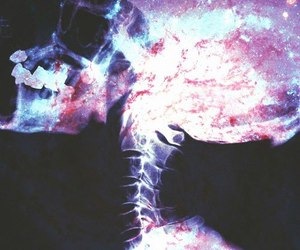 galaxy, skeleton, and skull image