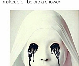 funny, makeup, and shower image