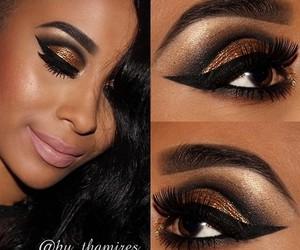 eyes, lips, and make up image
