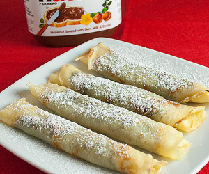 nutella and crepes image