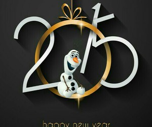 2015, olaf, and new year image