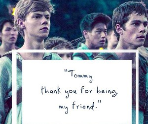 newt, thomas, and the maze runner image