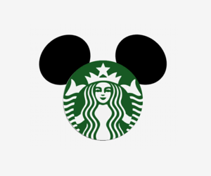 starbucks, disney, and mickey mouse image