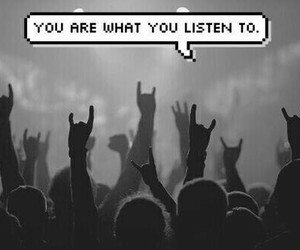 music, rock, and black and white image