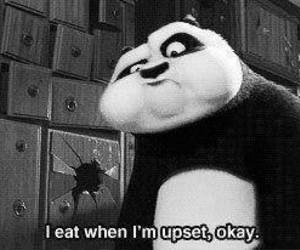 eat, panda, and food image