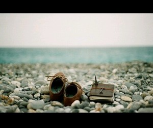 artsy, sea, and book image