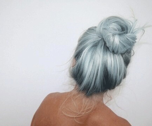 blue hair, grunge, and girl image