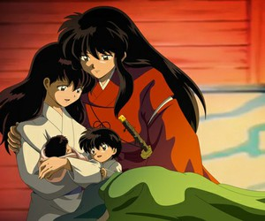 inuyasha, anime, and love image