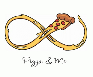 forever, pizza, and infinity image