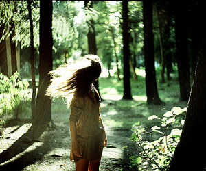 girl and forest image