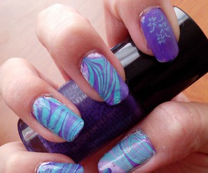 blue, purple, and water marble image