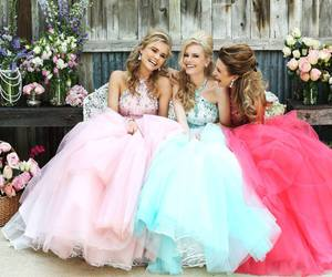 dress, beautiful, and girls image