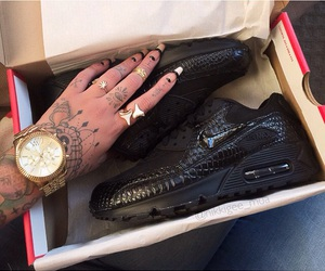 nails, shoes, and tattoo image