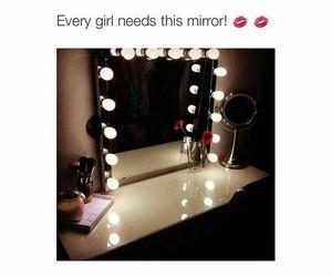 mirror, makeup, and light image