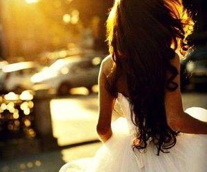 girl, dress, and hair image
