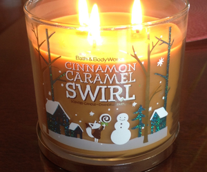candle, caramel, and winter image
