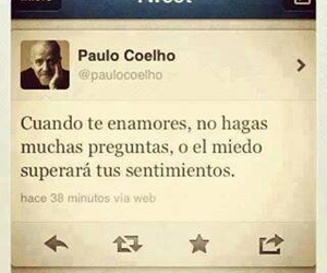 love, fall in love, and paulo coelho image