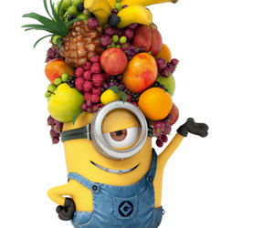 minions, fruit, and banana image
