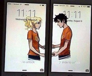 percy jackson, annabeth chase, and love image