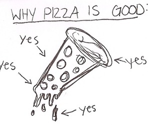 pizza, food, and good image