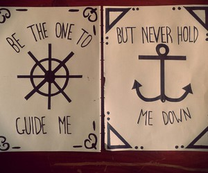 anchor, pen, and art image