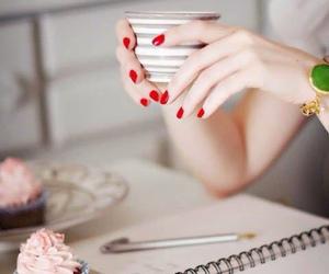 coffee, cupcake, and nails image