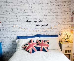 bedroom, decor, and bed image
