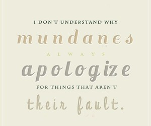 the mortal instruments, apologize, and fault image