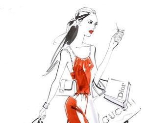 fashion, chanel, and dior image