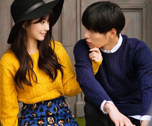couple, fashion, and korean image