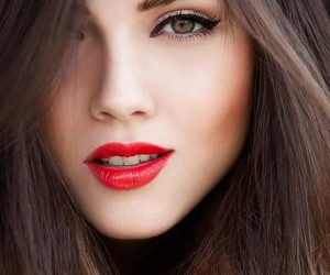 red, makeup, and lips image