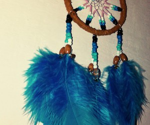 blue, dream catcher, and nice image
