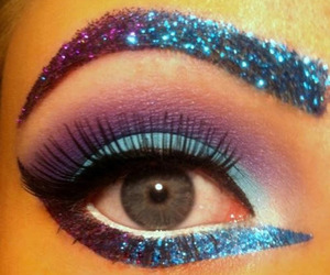 glitter, eyes, and blue image
